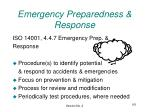emergency preparedness response