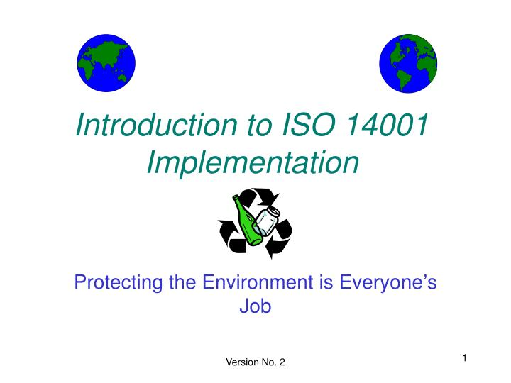 introduction to iso 14001 implementation n.