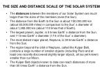 the size and distance scale of the solar system2