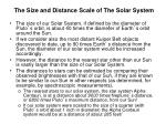 the size and distance scale of the solar system3