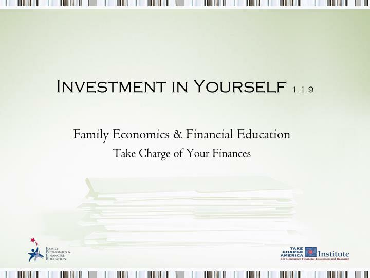investment in yourself 1 1 9 n.