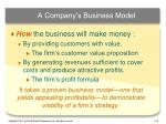 a company s business model