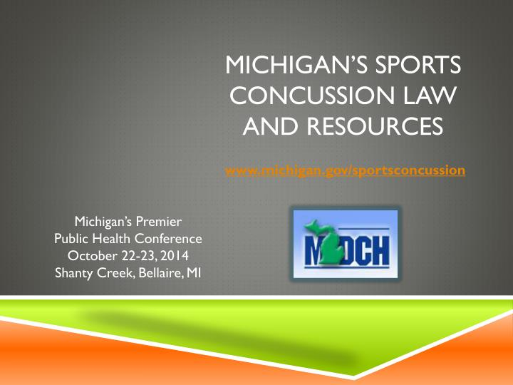 michigan s sports concussion law and resources n.