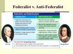 federalist v anti federalist