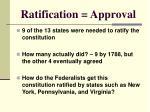 ratification approval