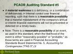 pcaob auditing standard 5