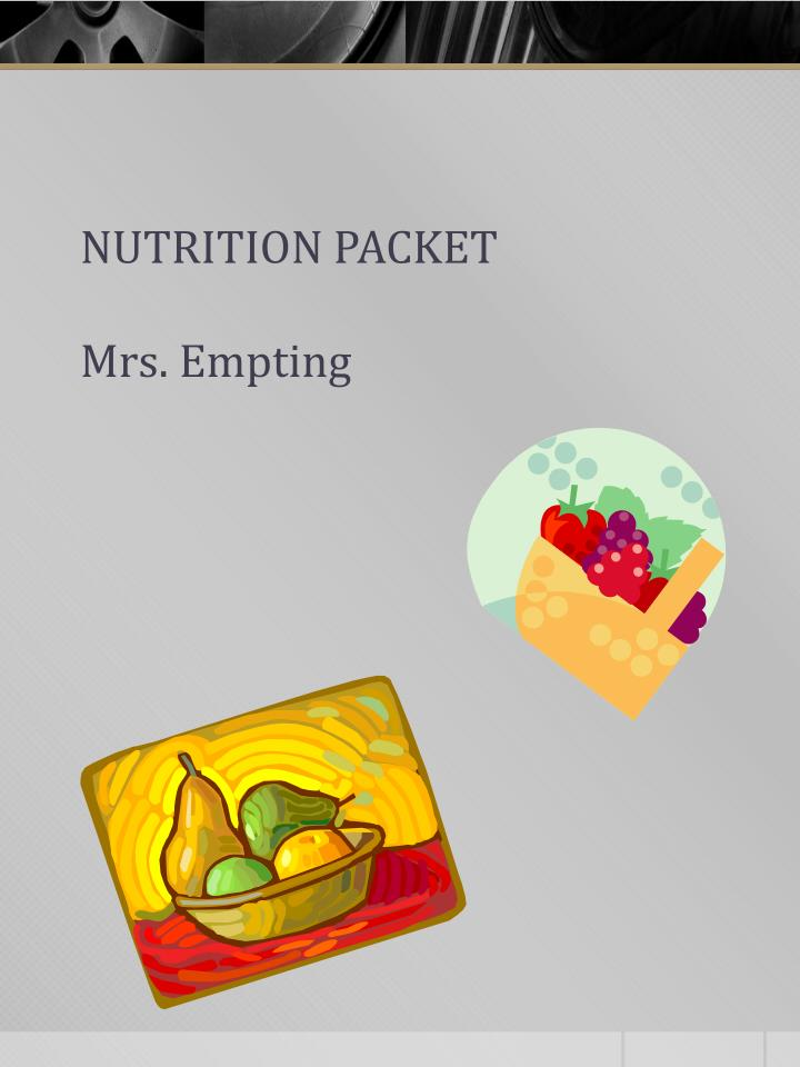 nutrition packet mrs empting n.