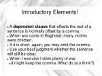 introductory elements