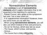 nonrestrictive elements