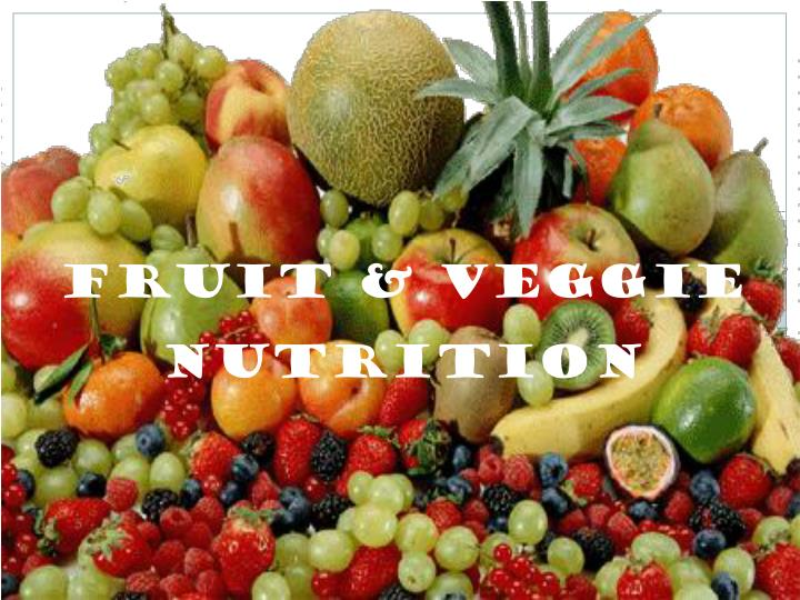fruits veggie nutrition n.