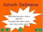 adverb definition