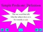 simple predicate definition