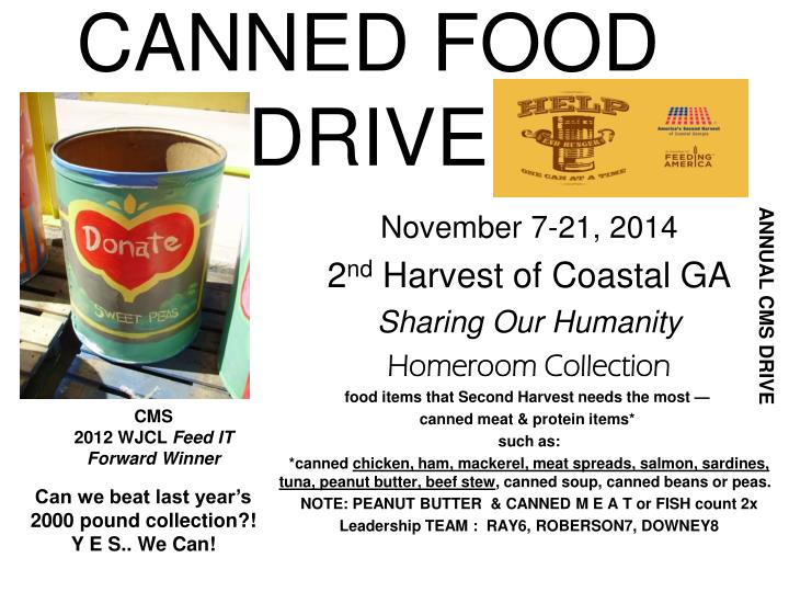 canned food drive n.
