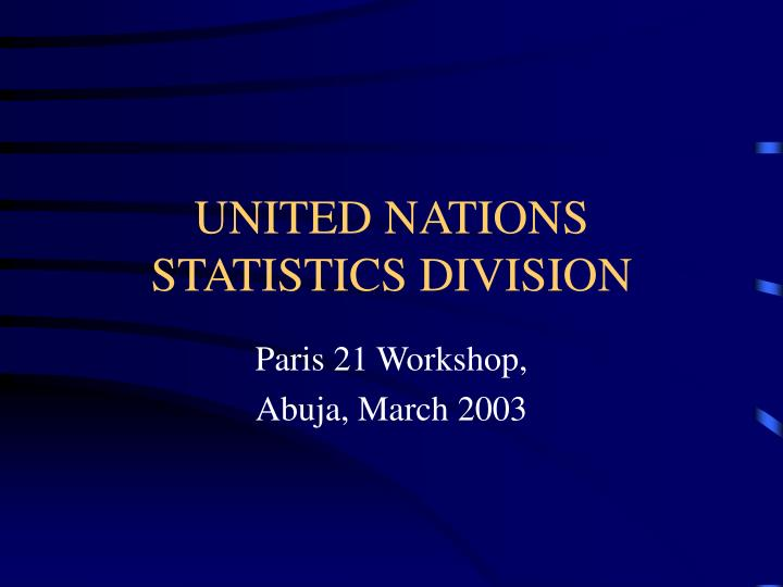 united nations statistics division n.