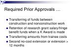 required prior approvals