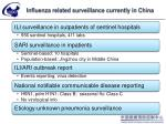 influenza related surveillance currently in china