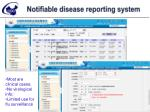 notifiable disease reporting system