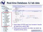 real time database ili lab data