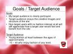 goals target audience