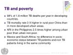 tb and poverty