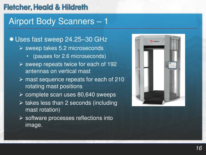 Airport Body Scanners – 1