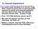7a sexual impairment