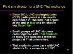 field site director for a unc thai exchange