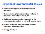 important environmental issues