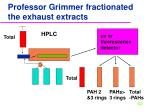 professor grimmer fractionated the exhaust extracts