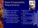 basic employability requirements 6