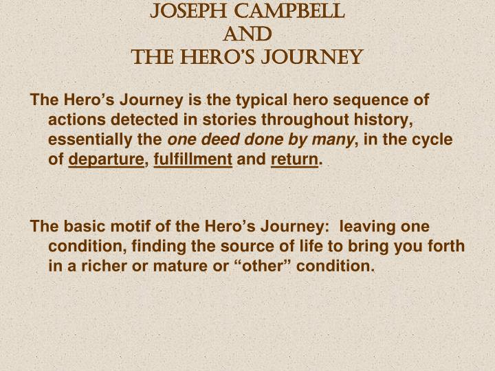 joseph campbell and the hero s journey n.