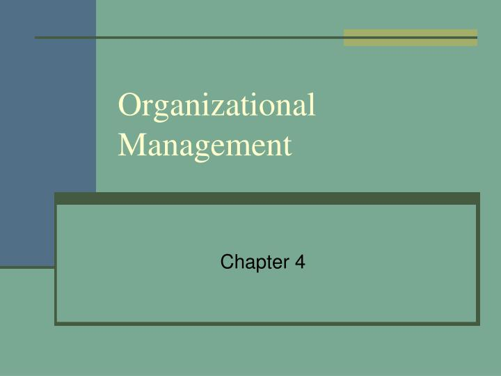 organizational management n.