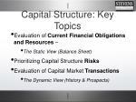 capital structure key topics