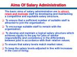 aims of salary administration