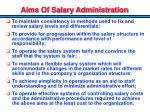 aims of salary administration1