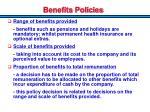 benefits policies
