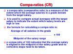 compa ratios cr