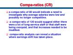 compa ratios cr1