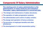 components of salary administration