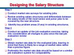 designing the salary structure