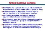 group incentive scheme