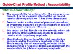 guide chart profile method accountability