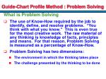guide chart profile method problem solving