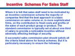 incentive schemes for sales staff
