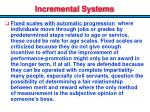 incremental systems1