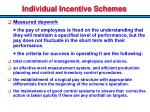 individual incentive schemes1
