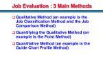 job evaluation 3 main methods