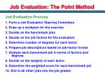 job evaluation the point method