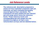 job reference levels
