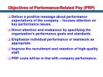 objectives of performance related pay prp1